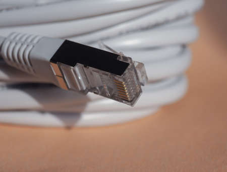 network connection plug: RJ45 plug for LAN local area network ethernet connection