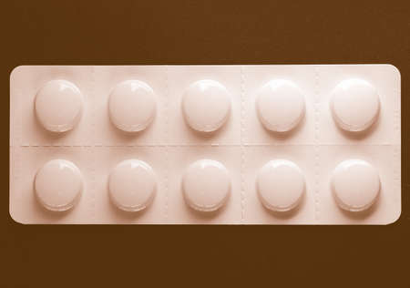 over the counter: Pharmaceutical over the counter or prescription pills vintage