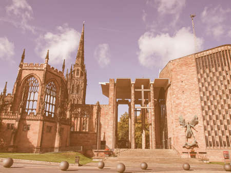 rationalist: St Michael Cathedral church, Coventry, England, UK vintage Stock Photo