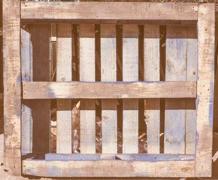 skid: Blue wooden pallet or skid vintage