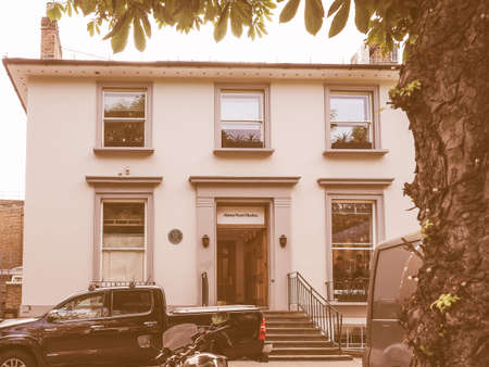 the beatles: LONDON, UK - JUNE 10, 2015: Abbey Road recording studios made famous by the 1969 Beatles album vintage Editorial