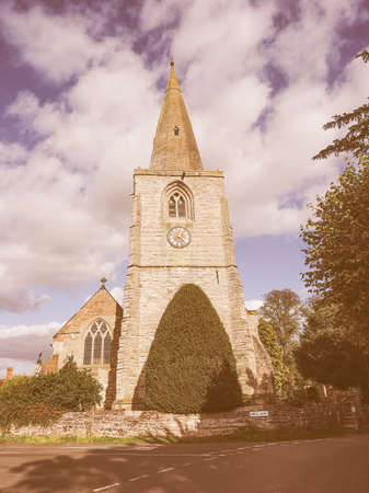 arden: Parish Church of St Mary Magdalene in Tanworth in Arden, UK vintage