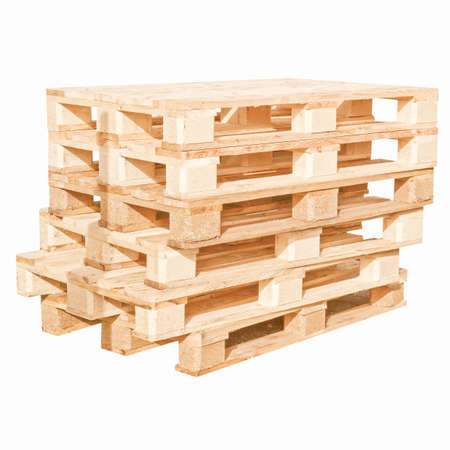 pallet: Pile of pallets isolated over white background vintage