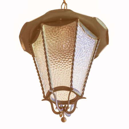 outdoor lighting: Garden pendant light for outdoor lighting isolated over white vintage Stock Photo