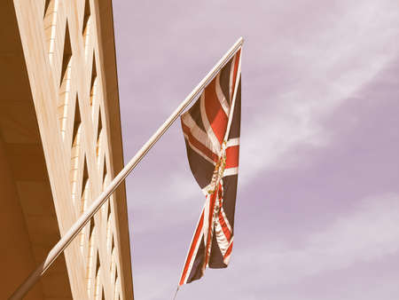 diplomatic: Diplomatic Union Jack (Flag of the UK) vintage Stock Photo