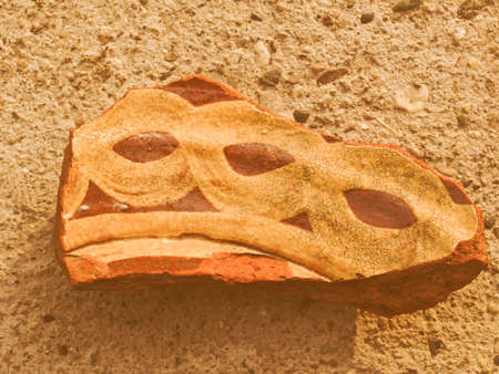 greek pottery: An archeological sherd fragment of ancient Greek pottery vintage