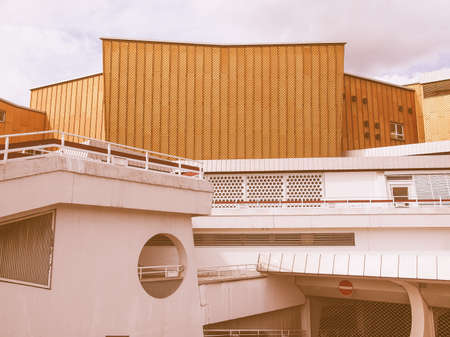 masterpiece: BERLIN, GERMANY - MAY 09, 2014: The Berliner Philharmonie concert hall designed by German architect Hans Scharoun in 1961 is a masterpiece of modern architecture vintage Editorial
