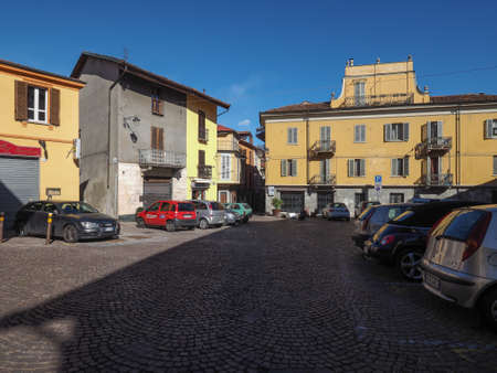 rivoli: RIVOLI, ITALY - CIRCA MARCH 2016: View of the historical city centre of Rivoli old city Editorial