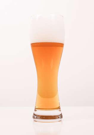 weiss: A glass of German weiss weizen beer vintage