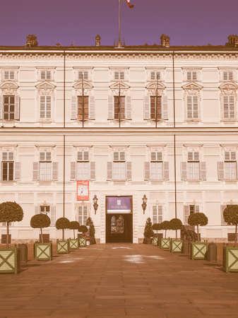 visiting: Tourists visiting the Palazzo Reale (Royal Palace) vintage