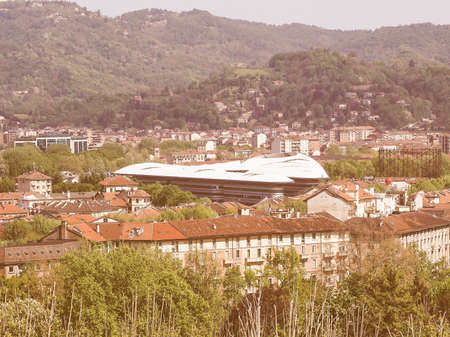 foster: TURIN, ITALY - APRIL 22, 2015: The Campus Luigi Einaudi of Turin University was designed by British architect Norman Foster and partners vintage