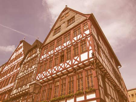 roemerberg: Frankfurt city hall aka Rathaus Roemer Germany vintage