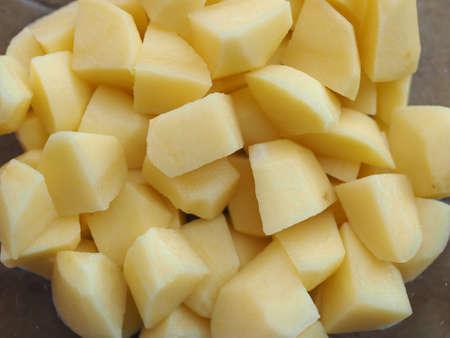 tuberosum: Diced potato (Solanum tuberosum) vegetables vegetarian food