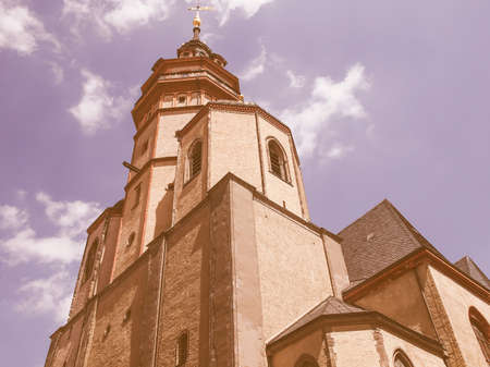 performed: Nikolaikirch St Nicholas Church in Leipzig Germany where Johann Sebastian Bach performed the world premiere of St John Passion vintage
