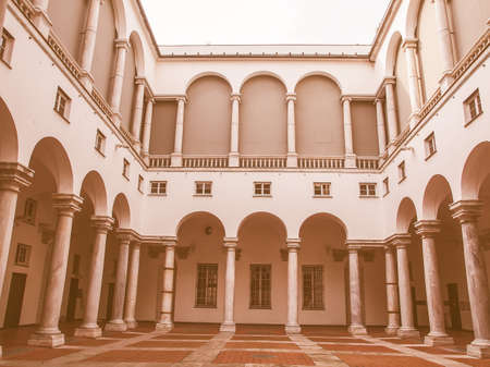 ducale: Palazzo Ducale Doge Palace in Genoa Italy vintage Editorial