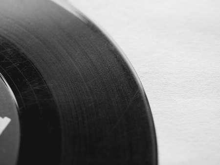 rpm: Vinyl record vintage analog music recording medium Stock Photo