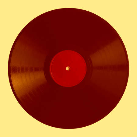78 rpm: Detail of vintage 78 rpm music record - pop art style Stock Photo