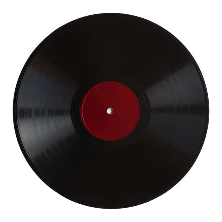 Vintage 78 rpm music record isolated over white Stock Photo