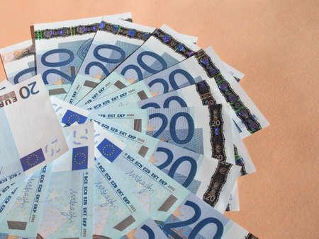 twenty: Twenty Euro banknotes currency of the European Union Stock Photo
