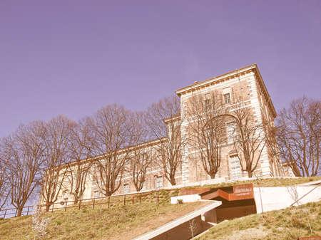 castello: Castello di Rivoli castle near Turin, Italy vintage