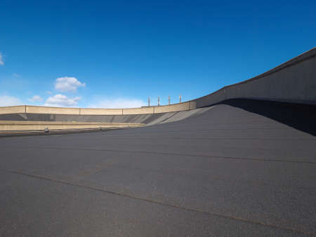 roof top: TURIN, ITALY - CIRCA MARCH 2016: Roof top race track at Lingotto former Fiat car factory