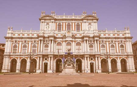 risorgimento: TURIN, ITALY - AUGUST 05, 2015: The National Museum of the Italian Risorgimento (Museo nazionale del Risorgimento italiano) is housed in Palazzo Carignano seat of the first Italian parliament vintage