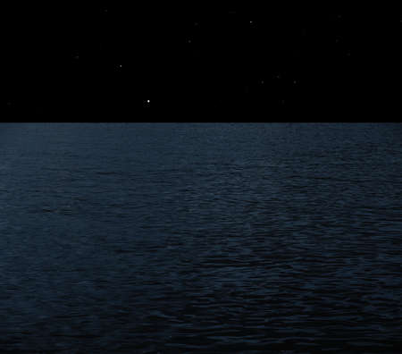 starry night: Sea at night with starry sky collage