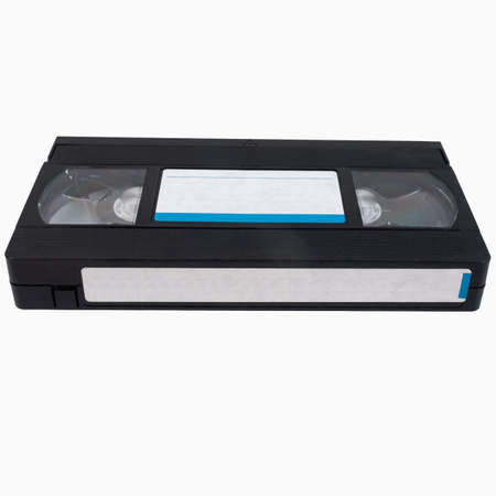 video cassette tape: Vintage VHS tape cassette for video recording