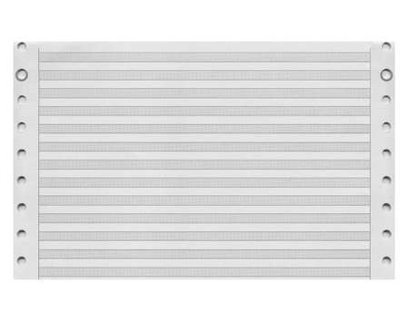 printout: Blank paper sheet form for computer printout Stock Photo