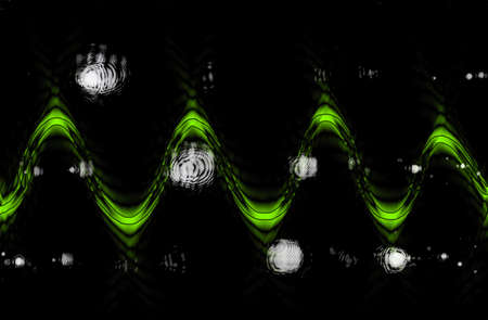 sine wave: Abstract light blur useful as a background - green sine wave Stock Photo