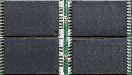 Permanent electronic memory chip on solid state drive (SSD) for computer data storage