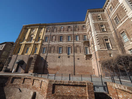 rivoli: The Rivoli Castle in Rivoli near Turin in Rivoli, Italy