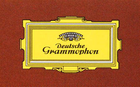 musik: BERLIN, GERMANY - CIRCA APRIL 2016: Logo of German recording company Deutsche Grammophon (meaning German Gramophone), printed on a CD