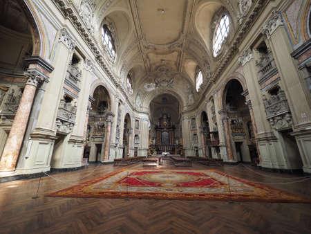 chiesa: TURIN, ITALY - CIRCA APRIL 2016: Chiesa di San Filippo Neri church interior