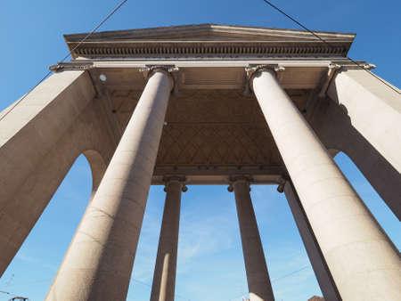 ticinese: Porta Ticinese city gate in Milan, Italy