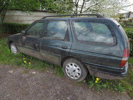 unused: An old unused abandoned vehicle aka dumped car