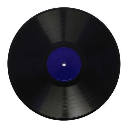 78: Vintage 78 rpm music record isolated over white with blue label