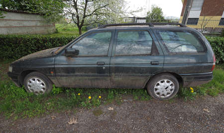 An old unused abandoned vehicle aka dumped car