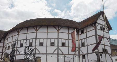 LONDON, UK - JUNE 10, 2015: The Shakespeare Globe Theatre
