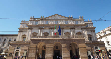 scala: MILAN, ITALY - CIRCA APRIL 2016: Teatro alla Scala theatre