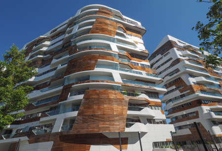 citylife: MILAN, ITALY - CIRCA APRIL 2016: CityLife Milano residential complex designed by Zaha Hadid architects