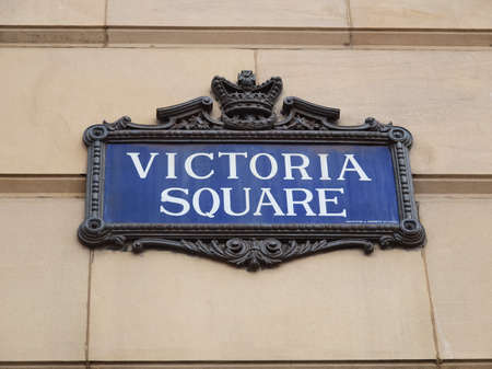 birmingham: BIRMINGHAM, UK - CIRCA SEPTEMBER 2011: Victoria Square sign