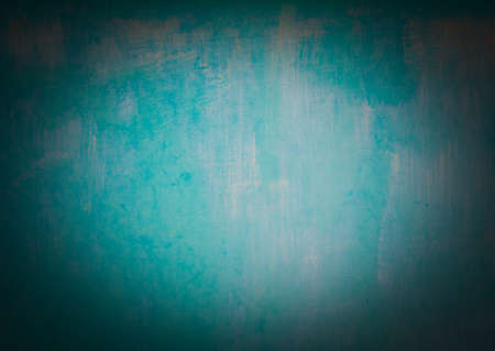 vignetted: Turquoise cyan aqua paint background vignetted