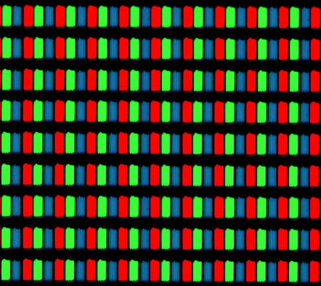 photomicrograph: Light photomicrograph of a mobile LCD screen seen through an optical microscope Stock Photo