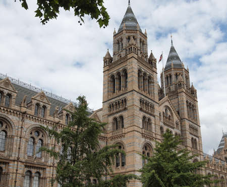 kensington: The Natural History Museum on Exhibition Road in South Kensington in London, UK