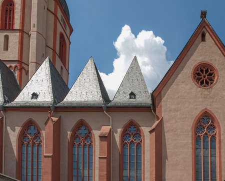 st german: St Stephan church in Mainz in Germany