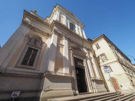 carmine: Chiesa del Carmine church designed by architect Filippo Juvarra in 1736 in Turin, Italy Stock Photo