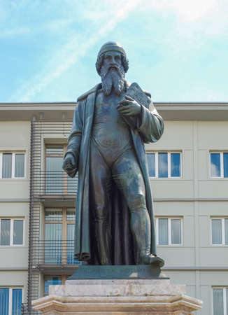 MAINZ: Gutenberg statue monument in Mainz in Germany Editorial