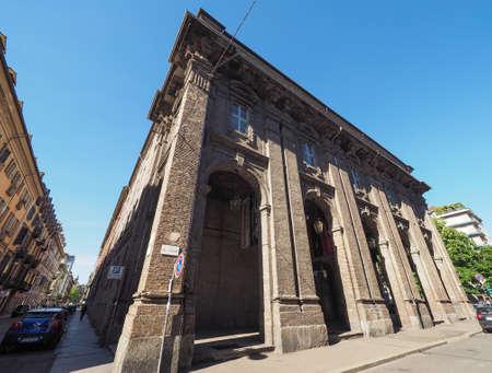 barracks: TURIN, ITALY - CIRCA MAY 2016: Quartieri militari former military barracks designed by Juvarra in 1716