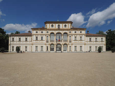 18th: TURIN, ITALY - CIRCA APRIL 2016: Villa La Tesoriera baroque palace from 18th century now houses the musical library